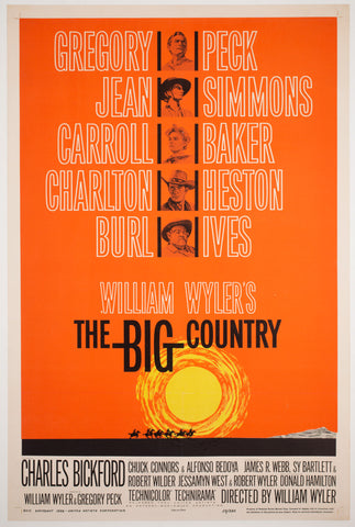 The Big Country 1958 US 1 Sheet Style B Film Poster, Saul Bass