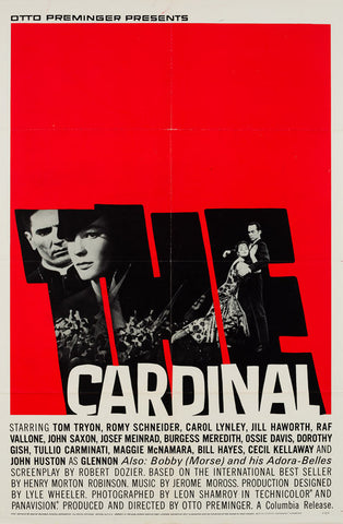 Original 1963 The Cardinal US 1 Sheet film movie poster