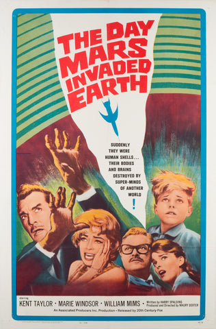 The Day Mars Invaded Earth 1963 US 1 Sheet Film Poster