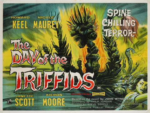 The Day of the Triffids 1962 original UK Quad film movie poster