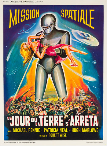 The Day the Earth Stood Still 1960s original French film movie poster
