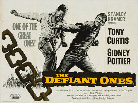 The Defiant Ones 1958 original vintage UK quad film movie poster - Tony Curtis and Sidney Poitier
