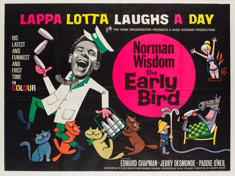 The Early Bird 1965 UK Quad poster