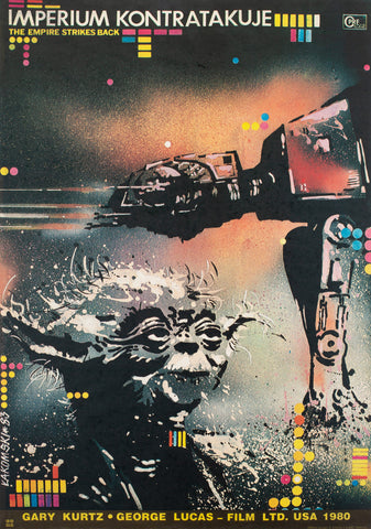 The Empire Strikes Back 1980 Polish Film Poster, Lakomski