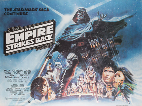 Empire Strikes Back 1980 UK Quad Film Poster