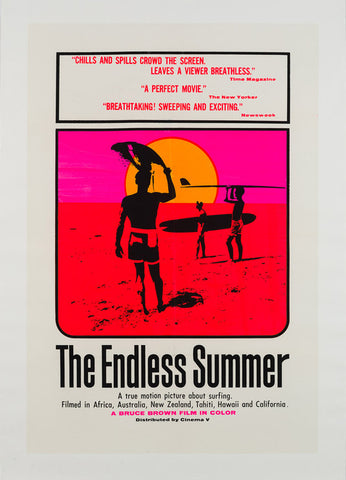 Original 1967 The Endless Summer US 1 Sheet film movie poster