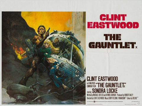 The Gauntlet 1977 original vintage UK quad film movie poster - Clint Eastwood