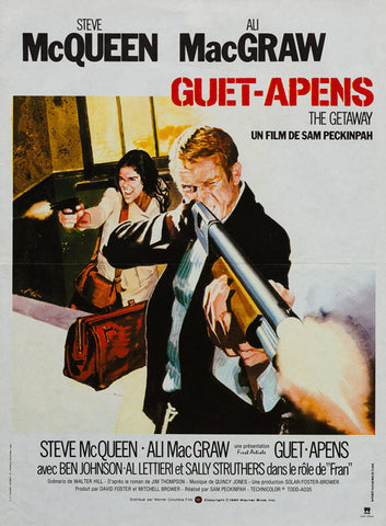The Getaway 1972 R1980 original French Affiche Petite film movie poster