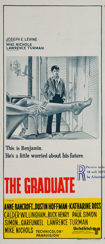 The Graduate 1967 original Australian Daybill film movie poster