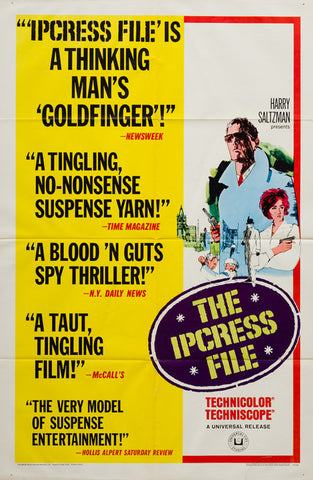 The Ipcress File 1965 original vintage film movie poster - Michael Caine