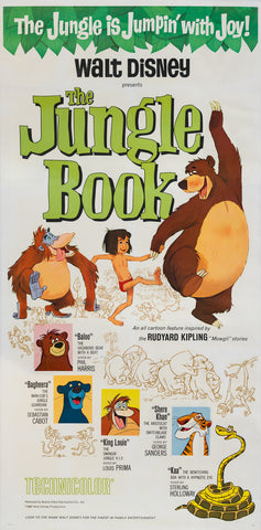 The Jungle Book 1967 US 3 Sheet original film movie poster