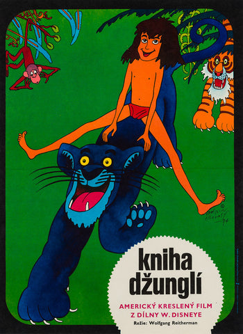 Original The Jungle Book 1974 Czech film movie poster