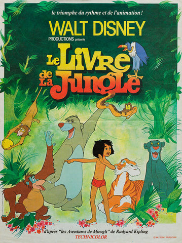 The Jungle Book R1978 original French Affiche Petite film movie poster