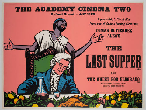 The Last Supper 1976 UK Quad Academy Cinema Film Poster, Strausfeld