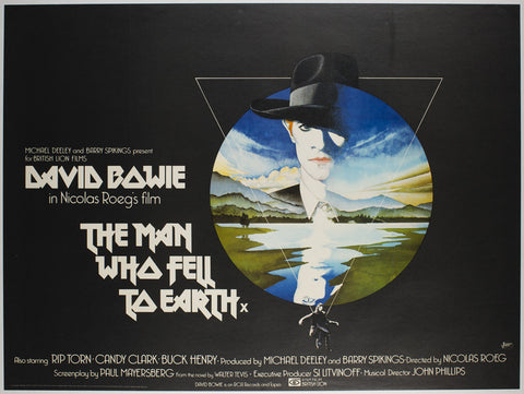 The Man Who Fell To Earth 1976 UK Quad Film Movie Poster