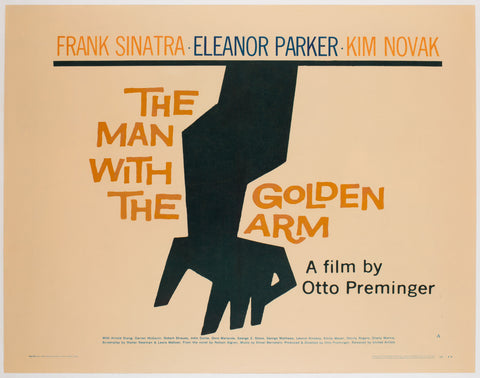 The Man With The Golden Arm 1956 US 1/2 Sheet Film Poster, Bass