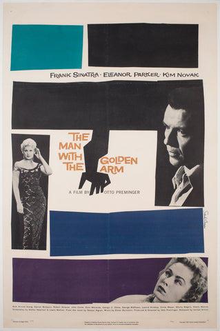 The Man with the Golden Arm 1956 US 1 Sheet Film Poster, Bass