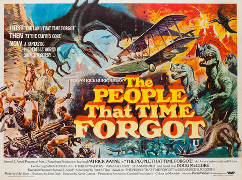 The People that Time Forgot 1977 Uk Quad film poster