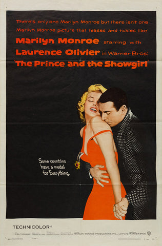 The Prince and the Showgirl 1957 original US 1 sheet film movie poster