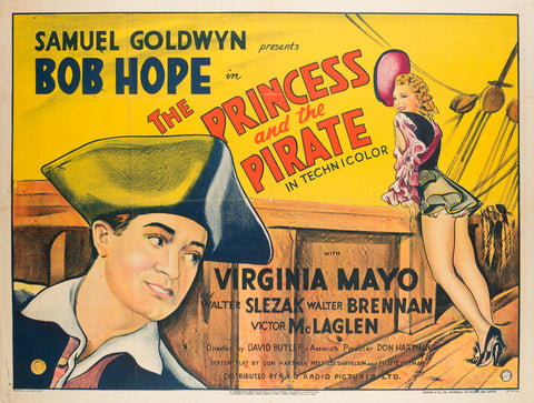 The Princess and the Pirate 1944 British Quad Film Poster