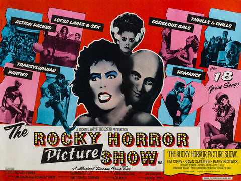 The Rocky Horror Show 1975 UK Quad Film Poster, Pasche