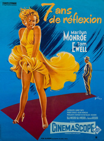 The Seven Year Itch R1970s original French Affiche Moyenne film movie poster
