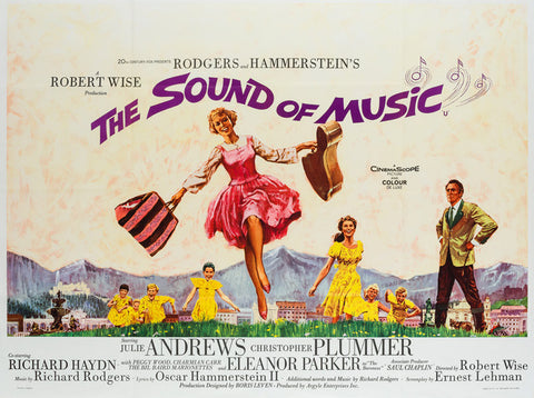 The Sound of Music 1965 UK Quad film poster