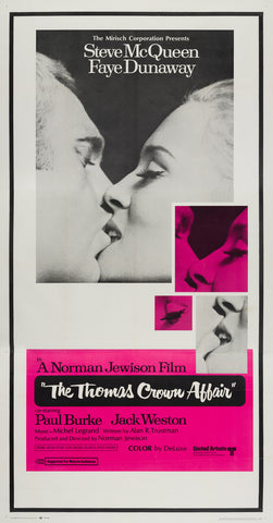 The Thomas Crown Affair 1968 US 3 Sheet original film movie poster Steve McQueen