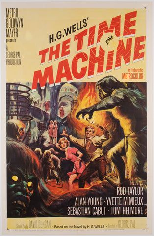 The Time Machine 1960 US 1 Sheet Film Poster, Brown