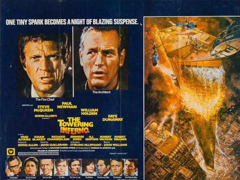 The Towering Inferno 1974 original vintage UK quad film movie poster - Steve McQueen, Paul Newman