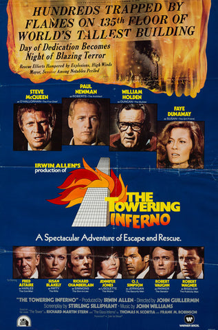 The Towering Inferno 1974 original vintage rare US 1 sheet Christmas Advance film movie poster
