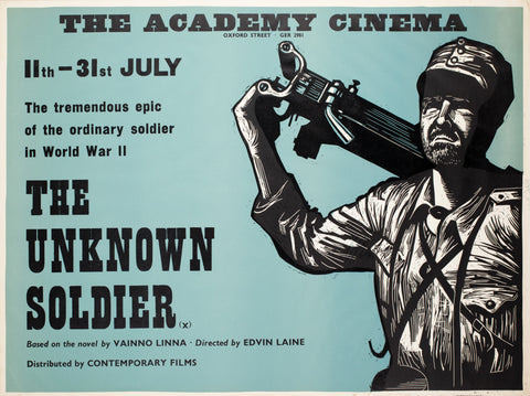 The Unknown Soldier 1970s Academy Cinema UK Quad Film Poster, Strausfeld