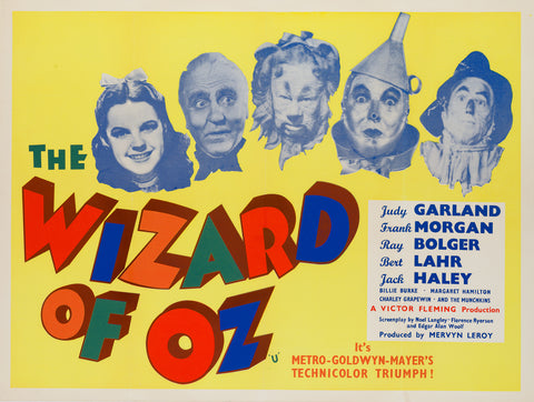 The Wizard of Oz R1959 UK Quad original film movie poster
