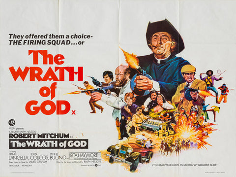 The Wrath of God 1972 original vintage UK quad film movie poster - Robert Mitchum, Rita Hayworth