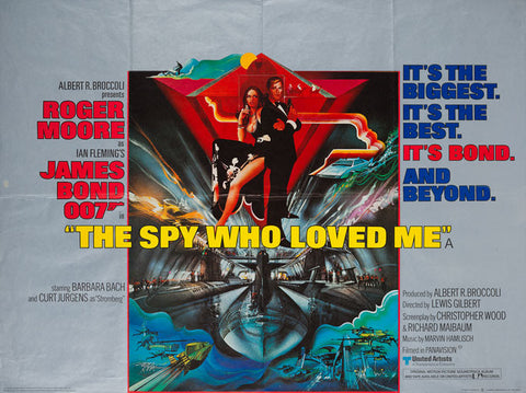 The Spy Who Loved Me 1977 original UK quad film poster James Bond