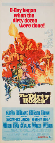 The Dirty Dozen 1967 original vintage US insert film movie poster
