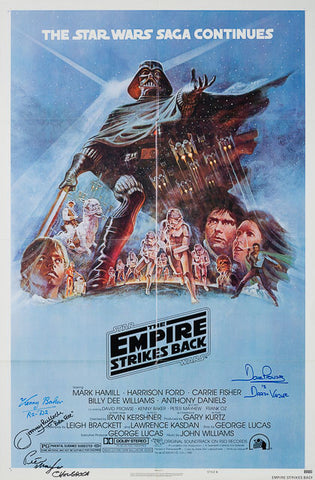 The Empire Strikes Back 1980 original vintage US 1 sheet style B film movie poster Star Wars