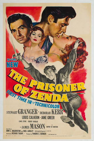 The Prisoner of Zenda 1952 original vintage US 1 sheet linen backed film movie poster