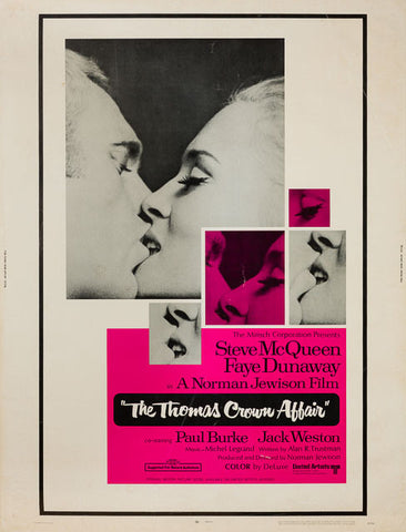 The Thomas Crown Affair 1968 original vintage US 30 x 40 film movie poster