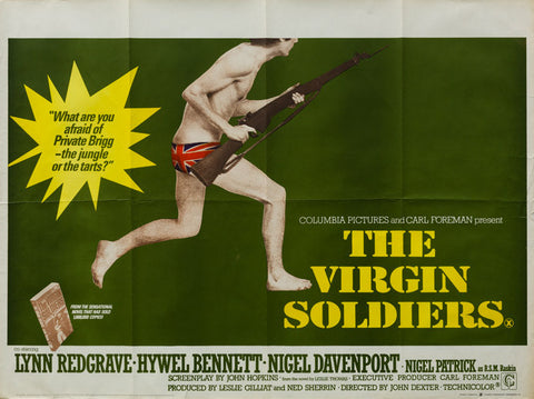 The Virgin Soldiers 1968 original vintage UK Quad film movie poster