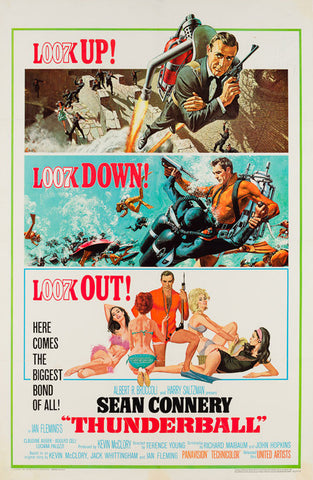 Thunderball 1965 US 1 Sheet Uncropped film poster