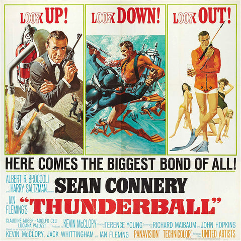 Thunderball 1965 6 Sheet Film Movie Poster