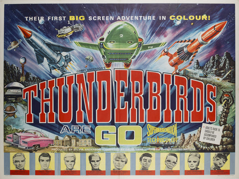Thunderbirds Are Go! 1966 UK Quad Film Poster