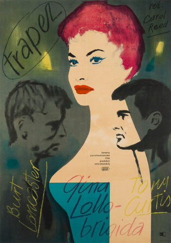 Trapeze 1956 Polish A1 original film movie poster