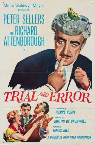 Trial and Error 1962 original vintage US 1 sheet film movie poster - Peter Sellers, Richard Attenborough