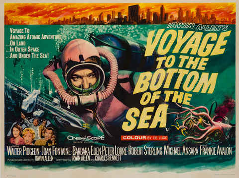 Voyage to the Bottom of the Sea 1961 UK Quad original film movie poster