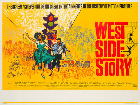 West Side Story 1962 Pre Oscars UK Quad original film movie poster