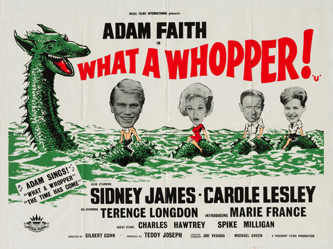 What a Whopper 1961 original vintage UK quad film movie poster