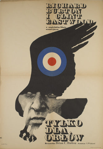 Where Eagles Dare 1972 original Polish film movie poster
