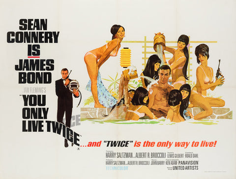 You Only Live Twice 1967 UK Quad film poster